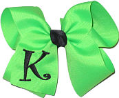 Neon Green and Black Monogrammed Initial