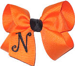 Orange and Black Monogrammed Initial