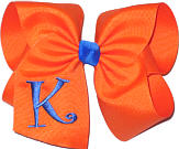 Orange and Electric Blue Monogrammed Initial