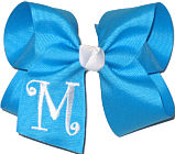 Turquoise and White Monogrammed Initial