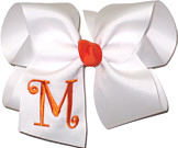 White and Orange Monogrammed Initial