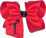 Red and Black Monogrammed Initial