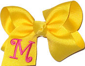 Maize and Shocking Pink Monogrammed Initial