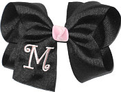 Black and Light Pink Monogrammed Initial