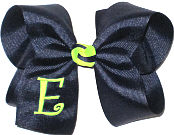 Navy and Neon Lime Monogrammed Initial