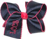 Large Red and Navy Moonstitch. Call to choose your school colors and in Monogram Design