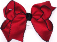Large Moonstitch Bow Red and Navy