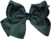 Large Moonstitch Bow Evergreen and Navy