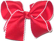 Large Moonstitch Bow Red and White
