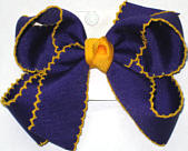 Medium Moonstitch Bow Regal Purple and Yellow Gold