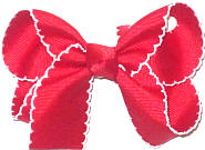 Medium Moonstitch Bow Red and White