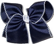 MEGA Moonstitch Bow Navy and White