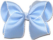 Large Moonstitch Bow Blue and White