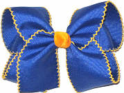 Large Moonstitch Bow Century Blue and Yellow Gold