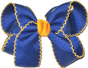 Medium Moonstitch Bow Century Blue and Yellow Gold