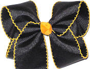 Large Moonstitch Bow Black and Yellow Gold