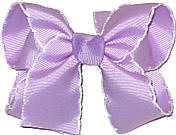 Medium Moonstitch Bow Light Orchid and White