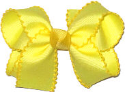 Lemon and Maize Medium Moonstitch Bow