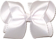 Large White and White Moonstitch Bow
