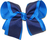 Aegean and Light Navy Large Double Layer Bow