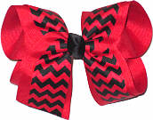Large Black and Red School Bow