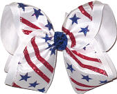 MEGA Stars and Stripes MEGA Extra Large Double Layer Bow