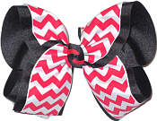 Red White and Black MEGA Extra Large Double Layer Bow