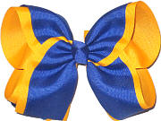 MEGA Century Blue and Yellow Gold School Bow