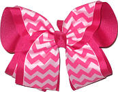 Shocking Ping Hot Pink and Pink MEGA Extra Large Double Layer Bow