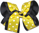 Large Maize with White Dots over Black School Bow