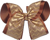 MEGA Khaki and Gold Canvas over Turftan School Bow