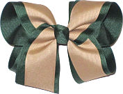Evergreen and Khaki Large Double Layer Bow
