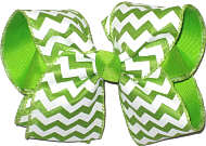 Apple Green and White MEGA Extra Large Double Layer Bow