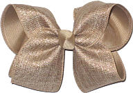 Khaki Canvas with Multi Highlghts over Khaki Large Double Layer Bow