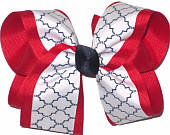 Red Navy White Large Double Layer Bow