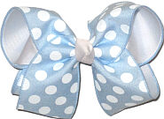 Millenium Blue and White MEGA Extra Large Double Layer Bow