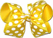 Maize and White MEGA Extra Large Double Layer Bow