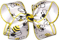 Bumble Bees Large Double Layer Bow