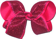MEGA Sarsparilla Sparkle over Sarsparilla Double Layer Overlay Bow