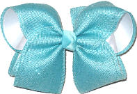 MEGA Navajo Turquoise Canvas over White Double Layer Overlay Bow