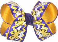 LSU Purple and Gold Bows