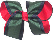 Large Three Layer Forest over Navy over Red Double Layer Overlay Bow