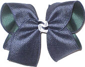 Large Navy Canvas over Forest Double Layer Overlay Bow