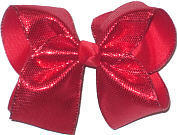 Large Red Metallic Minidots over Red Double Layer Overlay Bow