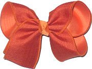 Large Rust Canvas over Pumpkin Pie Double Layer Overlay Bow