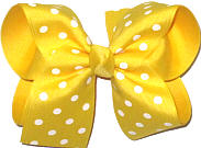 Large Maize with White Dots over Maize Double Layer Overlay Bow