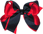 Red and Navy Large Double Layer Bow