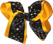 Yellow Gold and Black MEGA Extra Large Double Layer Bow