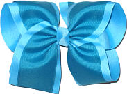 Sapphire over Mystic Blue MEGA Extra Large Double Layer Bow