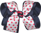 Large Navy and White with Red Stars